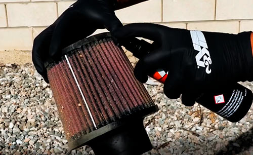 Clean a cold air intake filter