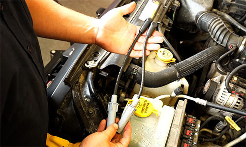 How to change spark plug wires on a Jeep Wrangler JK