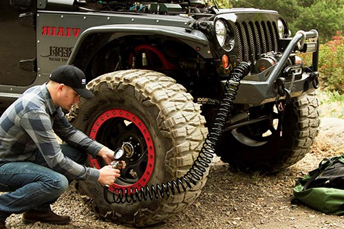 How To Use a Portable Air Compressor for Off-Road Truck Tires